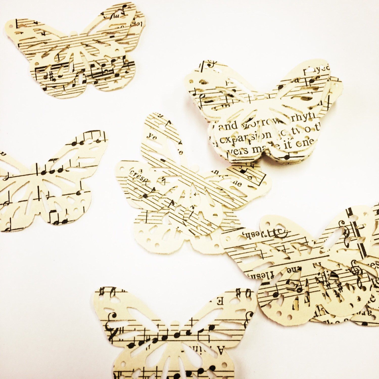 Vintage paper butterflies 7