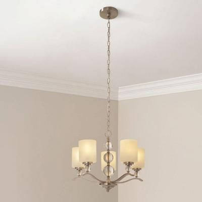 hampton bay jewel 5light brushed nickel the home