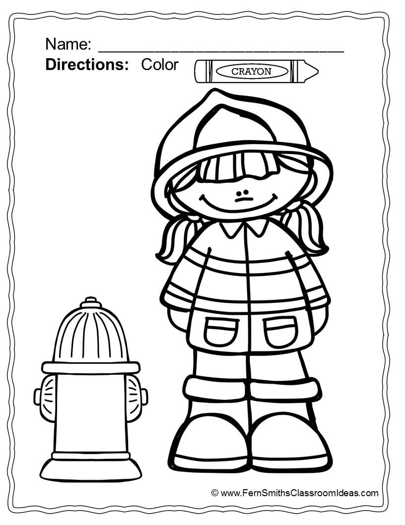 Fire Safety Coloring Pages Dollar Deal 14 Pages Of Fire Safety