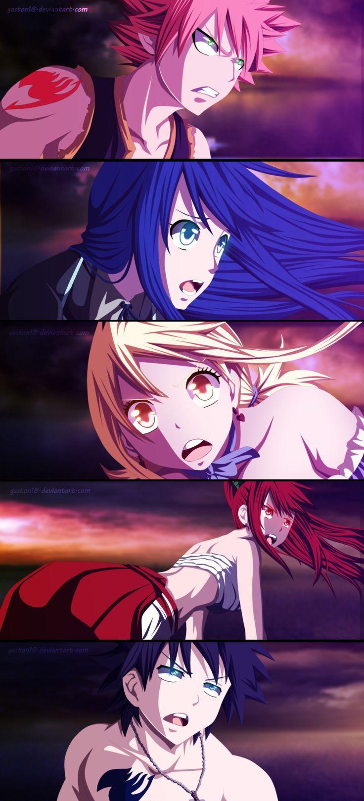 Natsu, Wendy, Lucy, Erza, Gray | Fairy tale anime, Fairy ...
