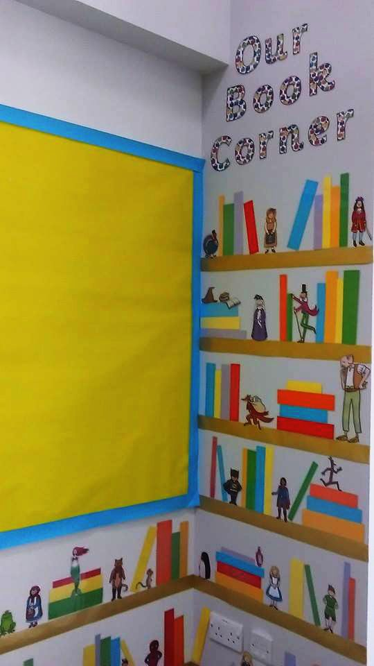 Corner Exhibition Stands Day : Make a wonderful book corner using story cut outs from
