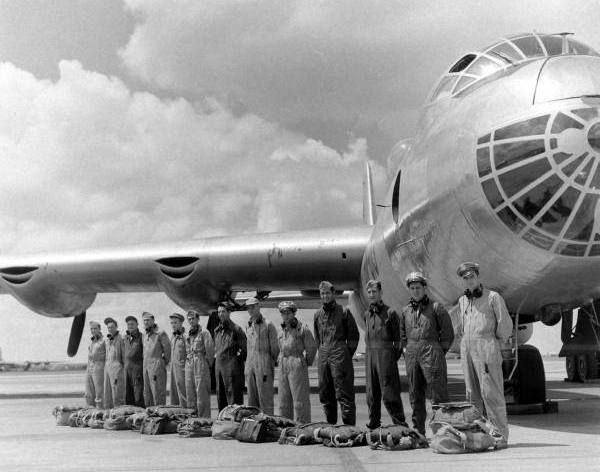 Convair B-36 Peacemaker crew ready for flight