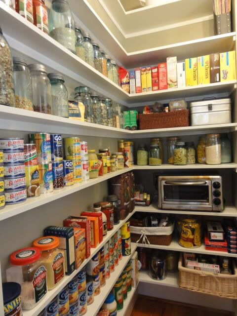 Pantry – wider on back wall for app…