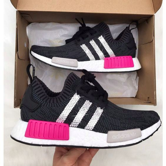 Over Half Off New Arrival 2017 June Swarovski Adidas Nmd Runner Casual Shoes  Rhinestone Shoes Stripe