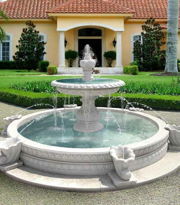 Luxus garten  luxus wasserbrunnen auf drei etagen im garten - herrenhaus ...