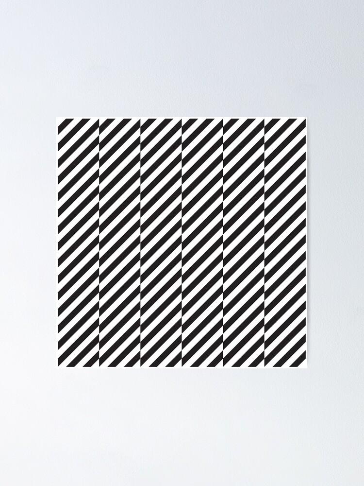 Black And White Diagonal Lines Pattern Poster By Kallyfactory In 2021 Pattern Art Black And White Lines Diagonal Line