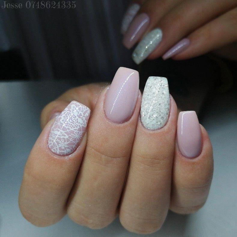 Cute Short Pink Acrylic Nails Simple Design Pink Acrylic Nails Dipped Nails Nails