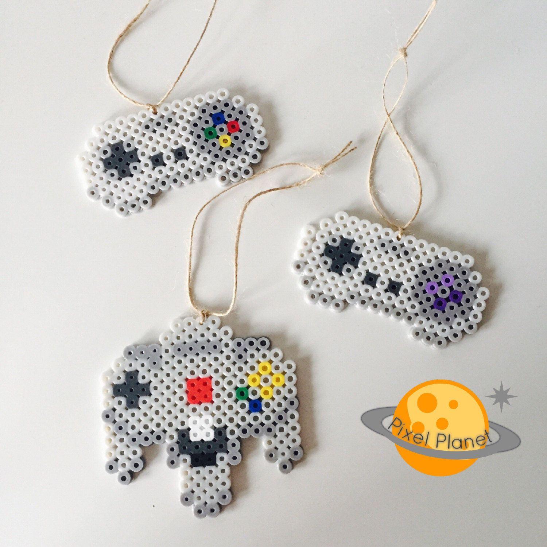 Perler Beads Sprite - Christmas Ornaments - Snes, Super Famicom