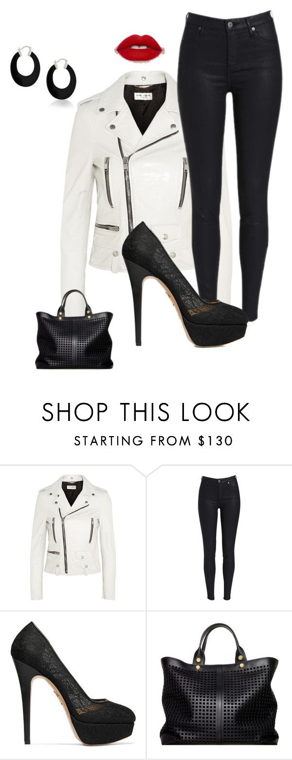 """""""Untitled #1510"""" by kotnourka ❤ liked on Polyvore featuring Yves Saint Laurent, Charlotte Olympia, Reed Krakoff and Bling Jewelry"""