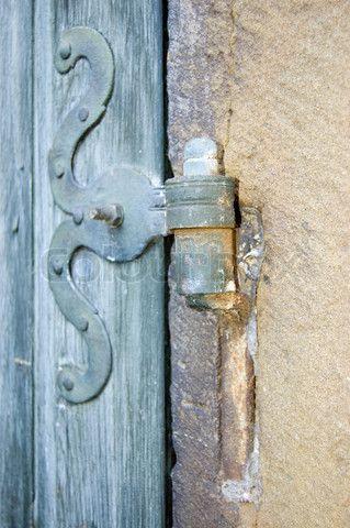 Old Wrought Iron Door Hinge Stock Photo Wrought Iron Doors Iron Door Hinges Doors
