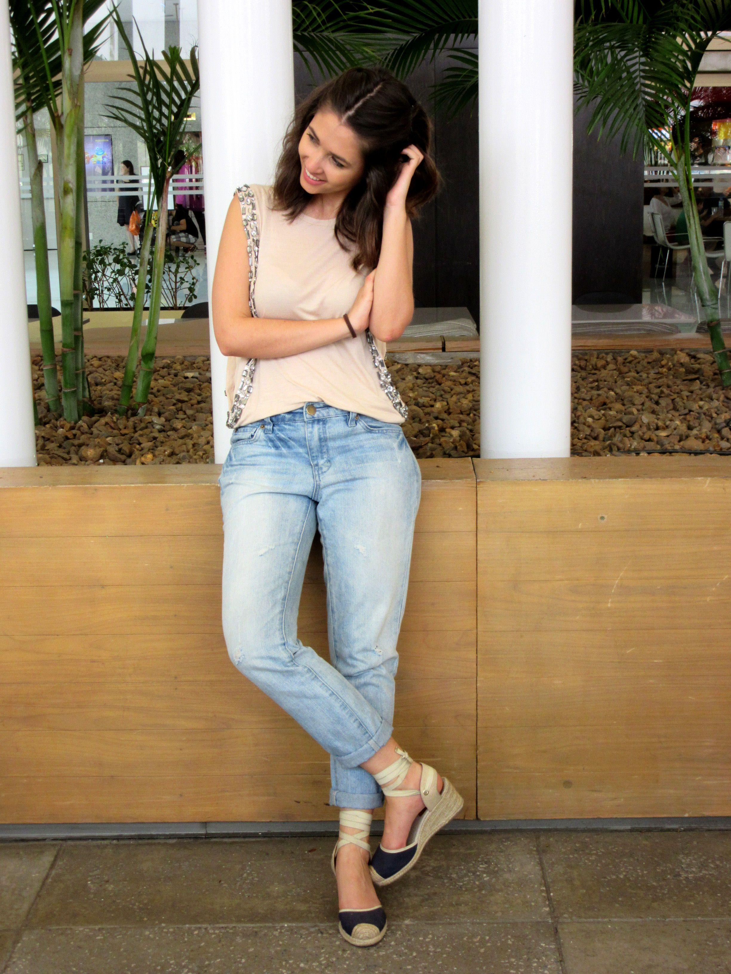 f371023ed Look dia-a-dia #1 - Jeans boyfriend | Outfit | Jeans, Boyfriend ...