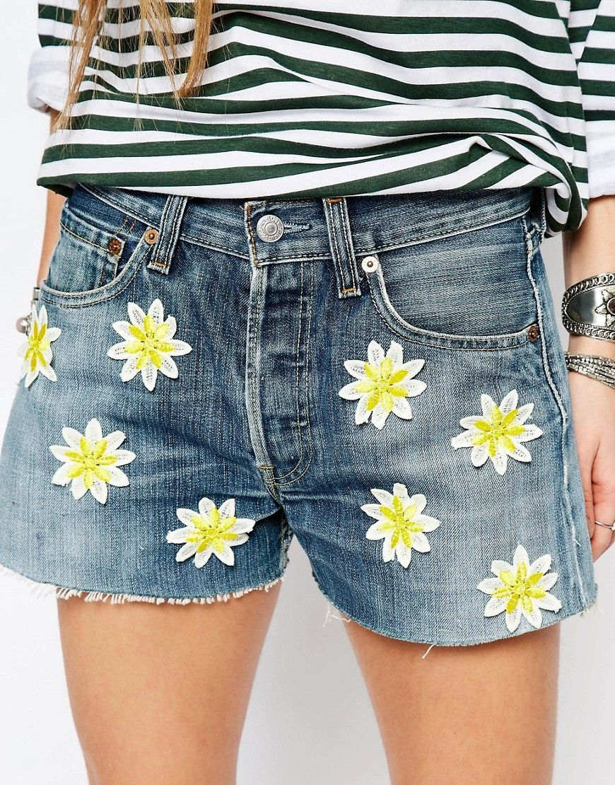 Size 6 8 10 12 14 16 NEW HIGH WAISTED BLACK FLORAL SHORTS Ladies DENIM RIP
