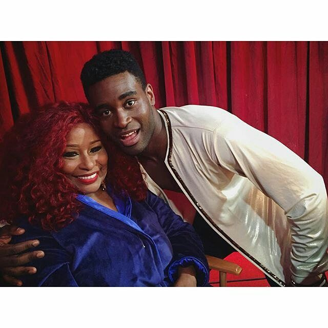 taking a quick break during dress rehearsal! They'll be all ready for you tonight on our live premiere at 8|7c on @abcnetwork #DWTS #chakakhan #music #soul #vinyl #funk #imeverywoman #aintnobody #teamchakeo #dancingwiththestars #chaka #williammaxey #williammaxey839 #blackisbeautiful #rnb #soultrain#TeamChakeo @dancingabc