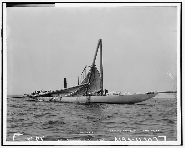 America's cup Columbia, 1899 Aug. 2;
