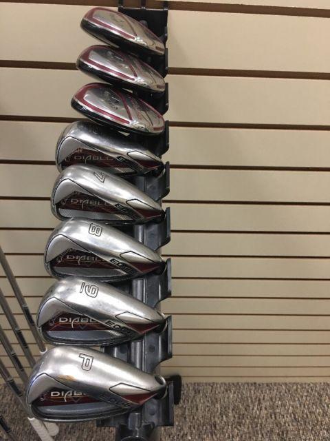 Callaway Diablo Edge Iron Hybrid Golf Set 6 P 3 5 Hybrid R Flex Ebay Golf Set Golf Ebay