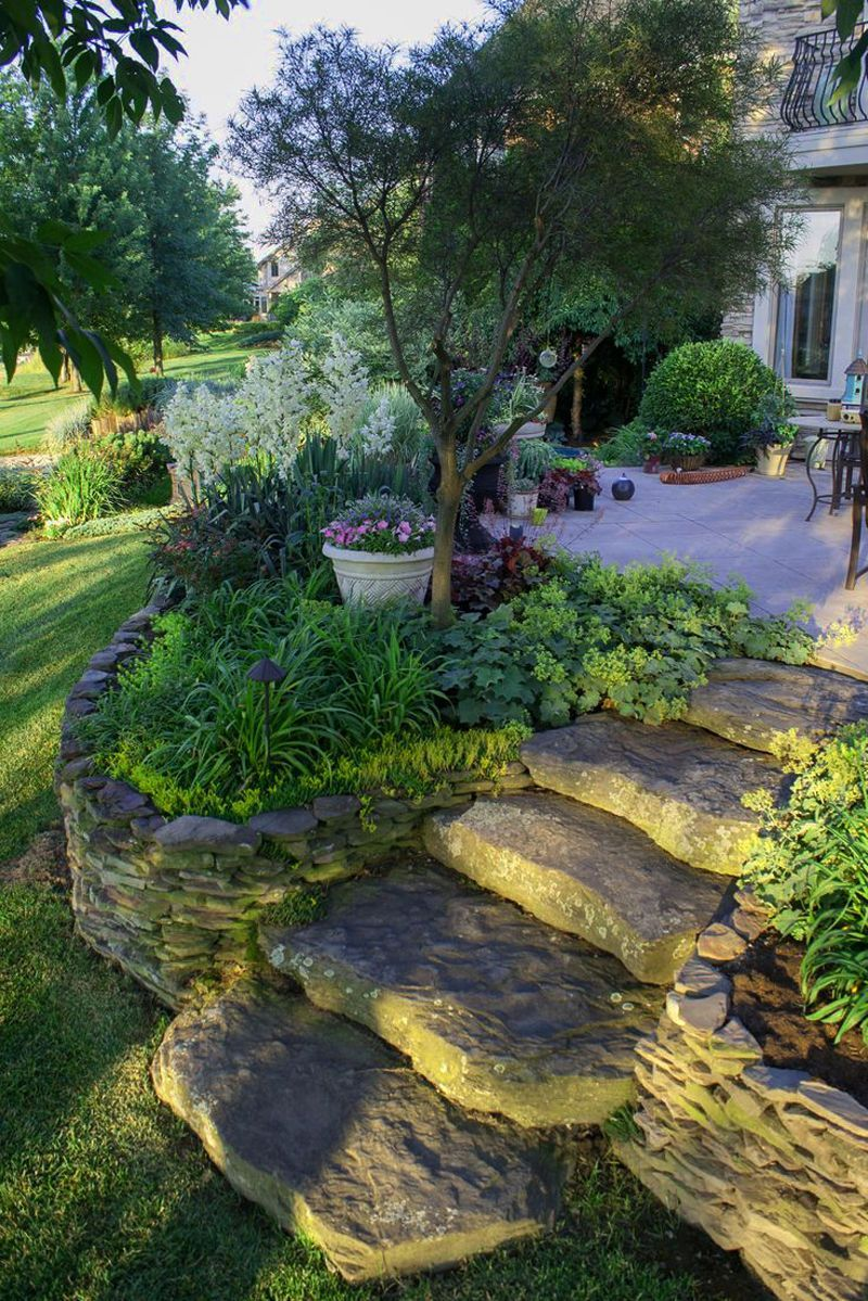 Easy And Simple Landscaping Ideas And Garden Designs Drawing Cheap Pool Landscaping Ideas Fo Sloped Backyard Sloped Yard Garden Paths