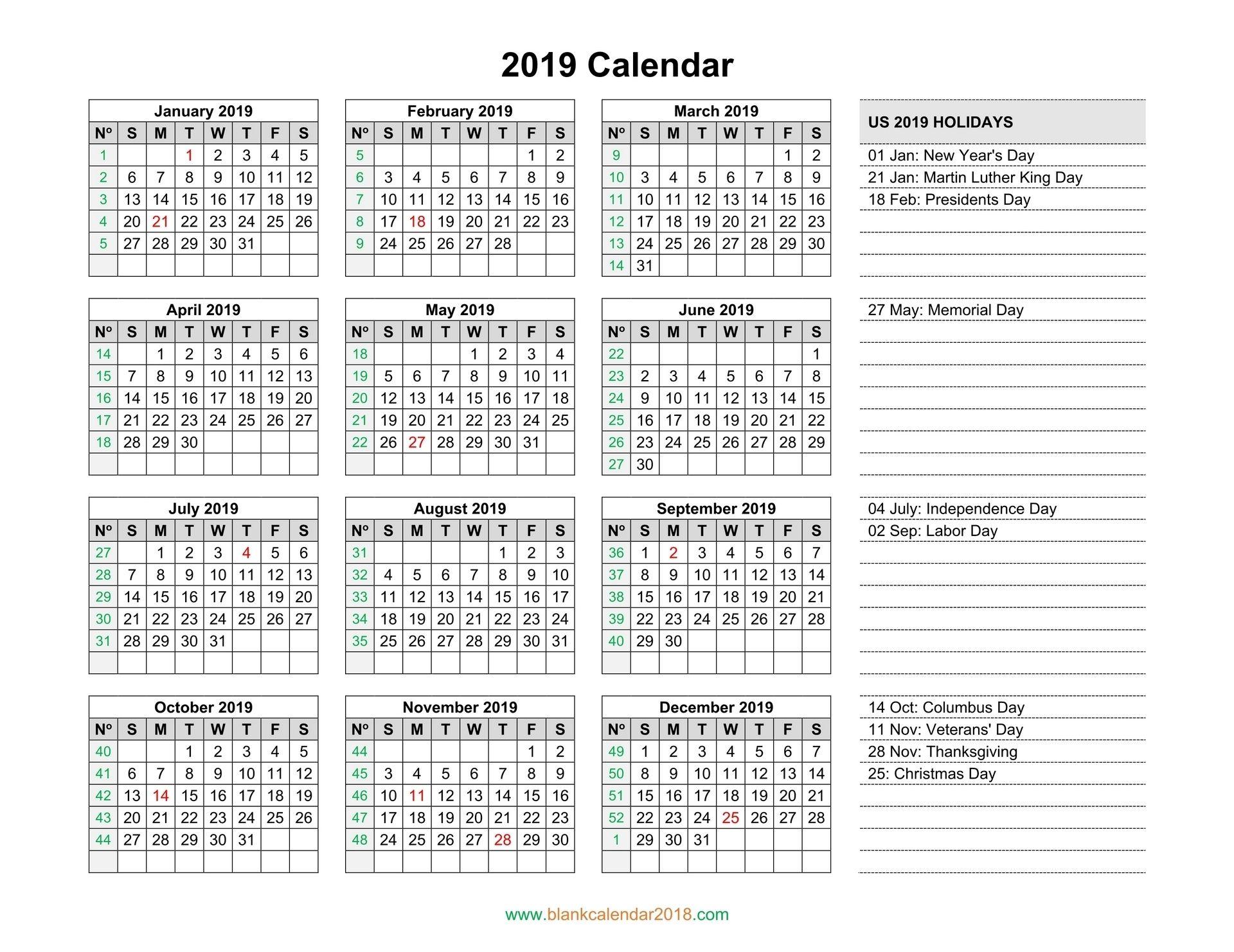 Blank Calendar 2019 Catch Blank calendar template