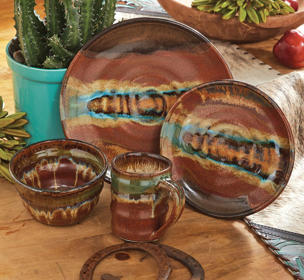 For Quality Western Themed Dinnerware at an Affordable Price Shop at Lone Star Western Decor your one stop shop for all your Western Decor needs. & Red Rocks Gem Dinnerware - 4 pcs...black forest decor | Cool things ...