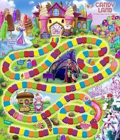 candyland game board template #gameroomdecorideasplayingcards #candylanddecorations