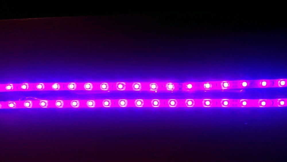 12v Pink Led Strip Lights 3528 2x30cm Strips Cars Vans Boats Caravans Lights Led Strip Lighting Strip Lighting