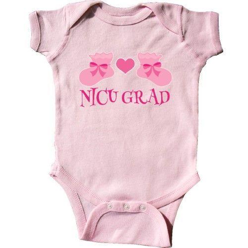 07c393ad8db5 Inktastic Nicu Grad Baby Girl Pink Booties Infant Creeper Baby ...