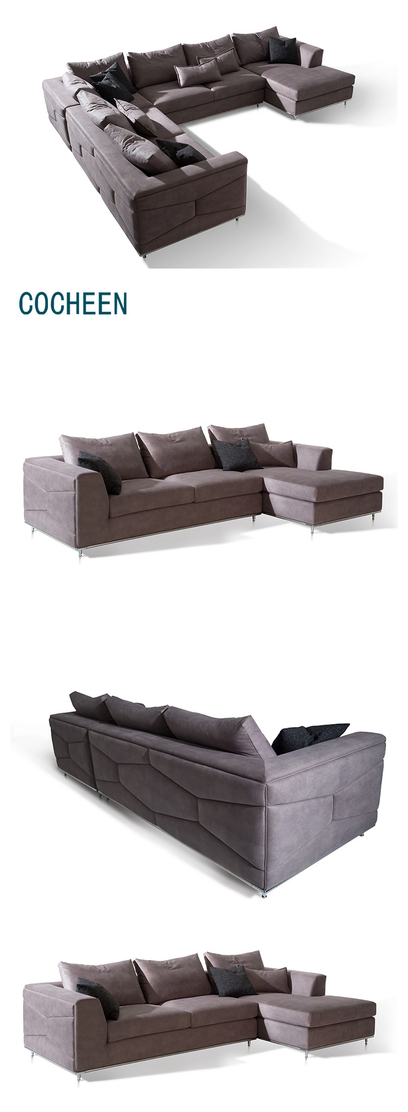 Best Sell Good Quality China Supplier Luxury Big Sectional