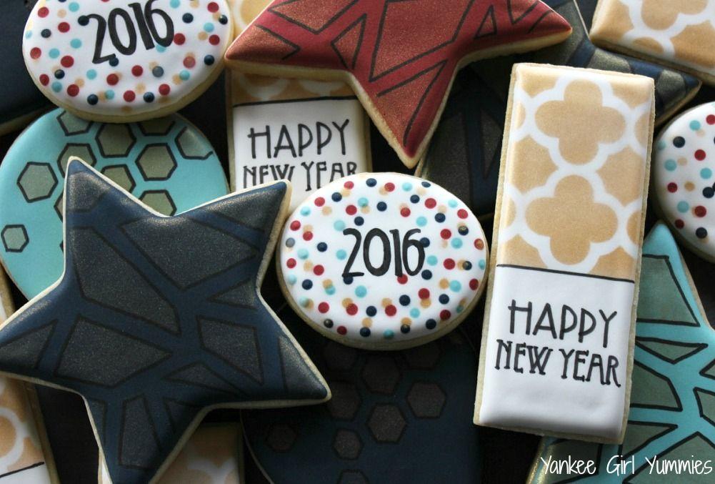 New Years Eve cookies. Yankee Girl Yummies | New years ...
