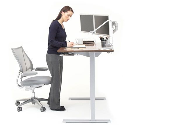 Float Humanscale S Height Adjustable Sit Stand Table Adjustable Height Table Standing Desk Design Sit Stand Desk