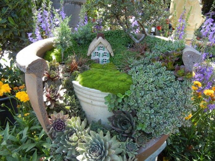 Miniature Fairy Garden Ideas 40 magical diy fairy garden ideas Fairy Garden Ideas Hens And Chicks