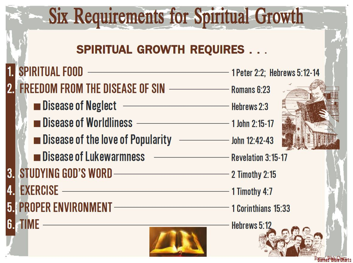 Six Requirements For Spiritual Growth Barnes Bible Charts