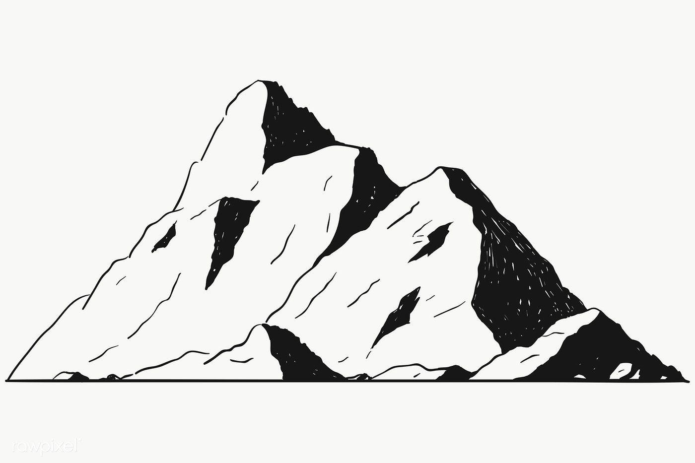 Mountain Shape For Logo Transparent Png Premium Image By Rawpixel Com Te Image Rock Mountain Aesthetic Mountain Drawing