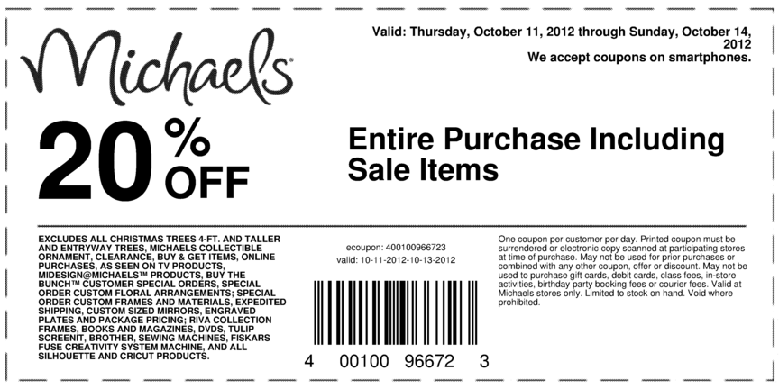 Michaels Extra 20 Off Everything At Michaels Crafts Includes Sale Items Coupon Via The Coupons Ap Michaels Coupon Michaels Crafts Coupons Printable Coupons