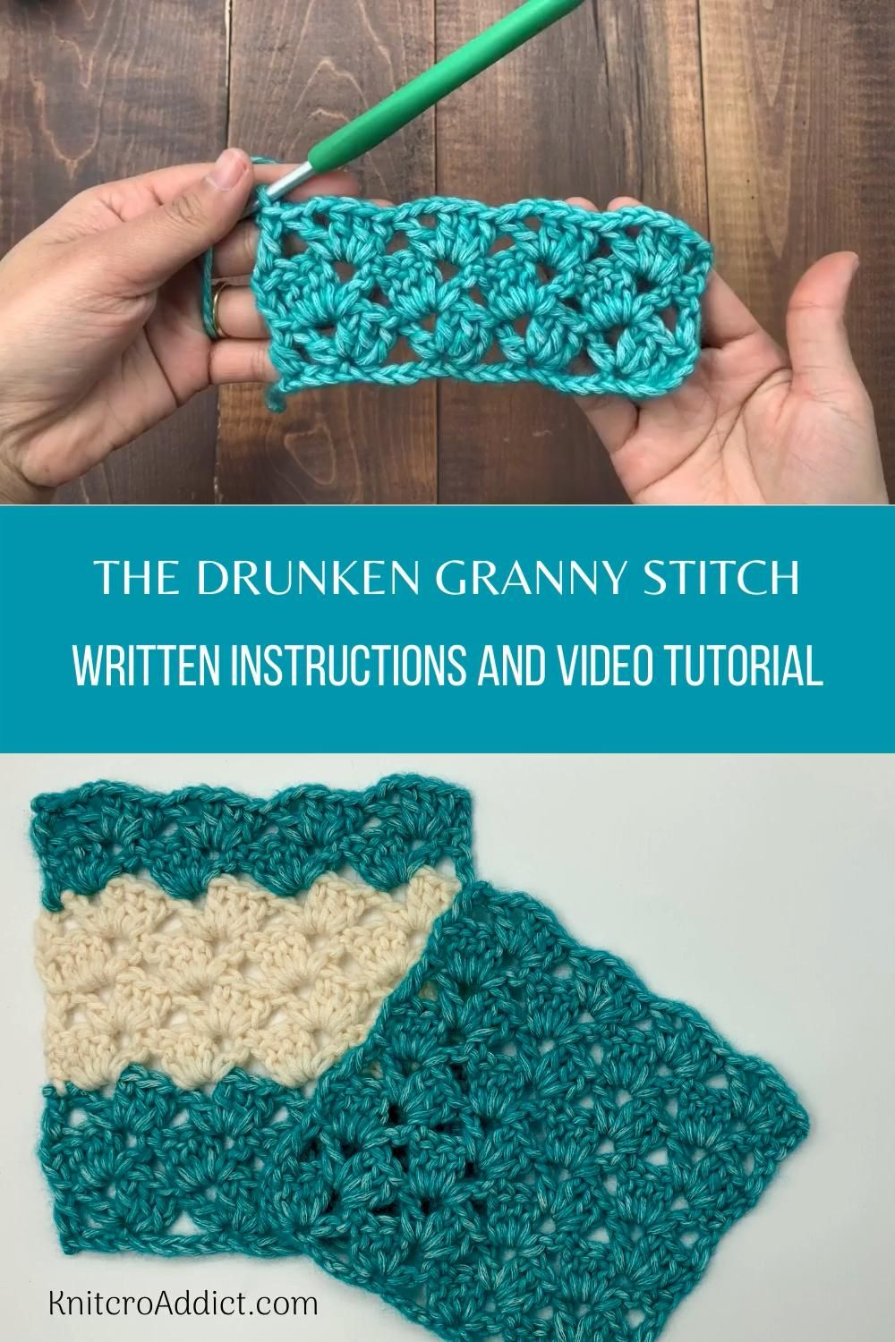 Drunken Granny Stitch : Step by Step Video Tutorial and Written instructions