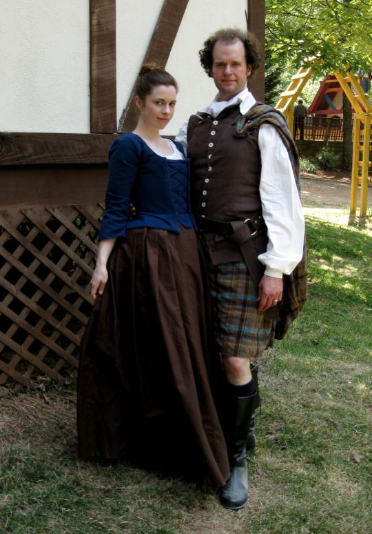 Outlander Cosplay // Jamie and Claire Costumes by Lunar Rose