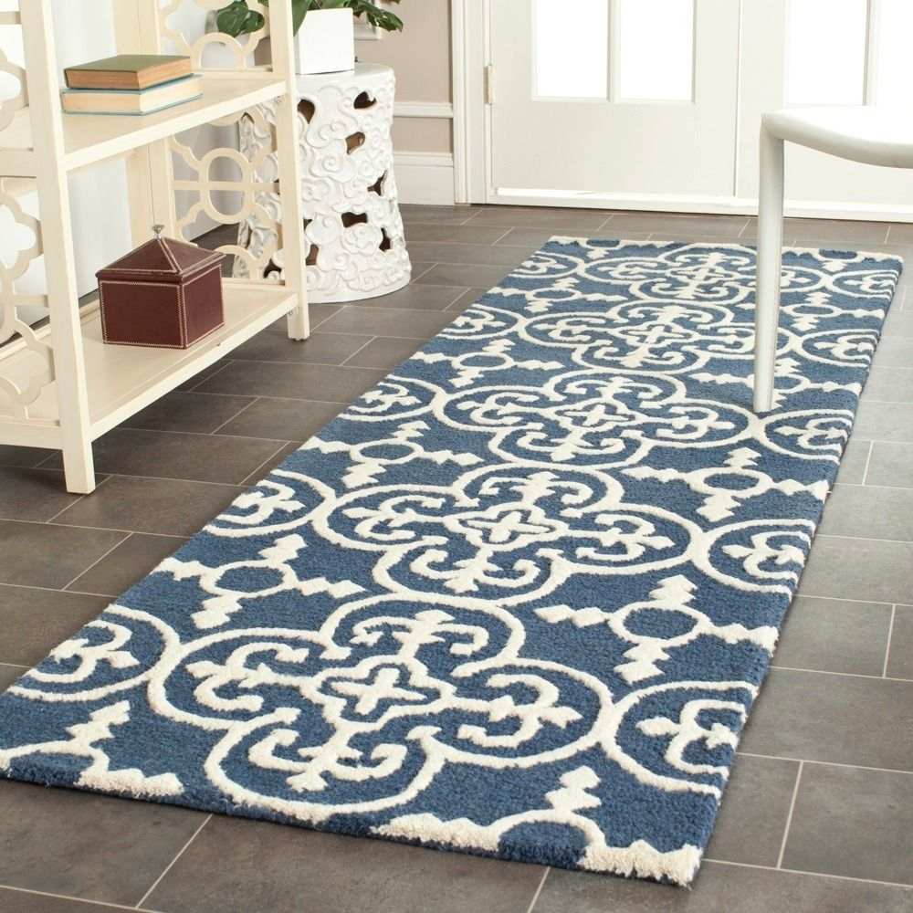 Hallway rug ideas  Handtufted of a percent wool pile this handmade wool rug