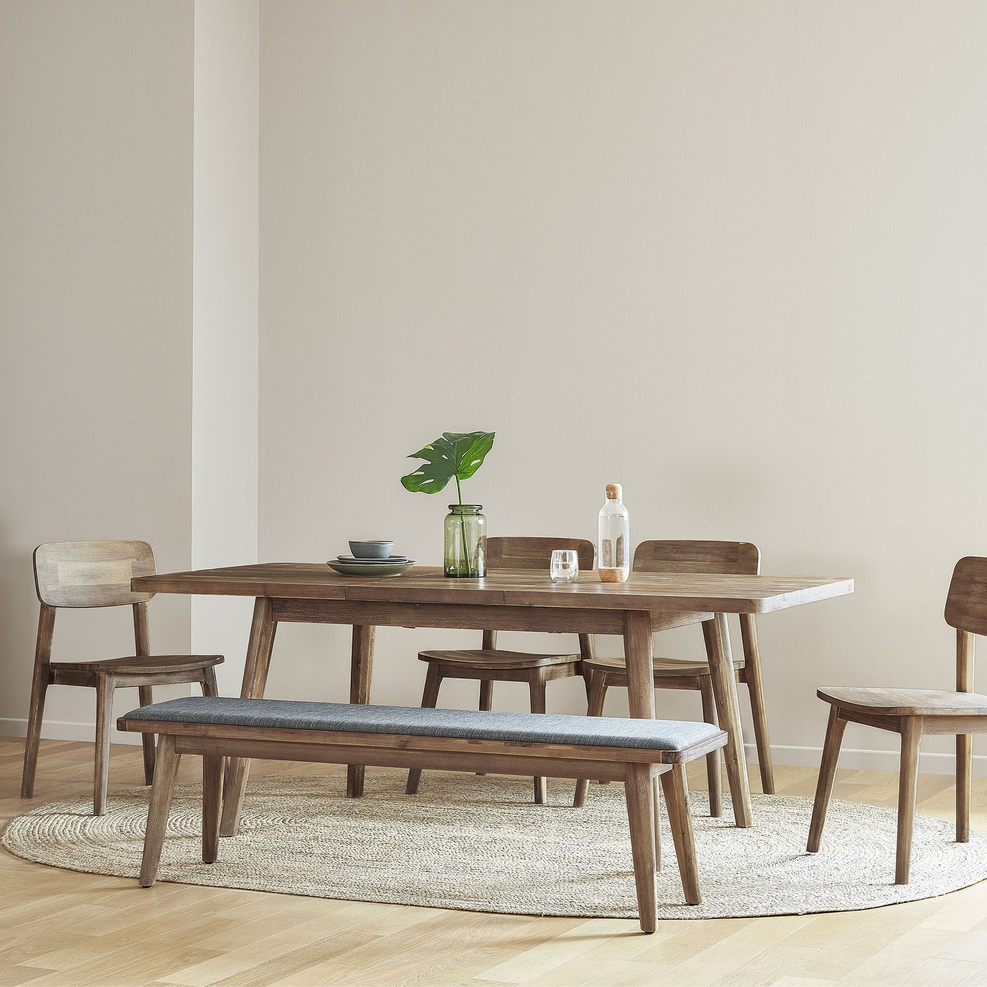 25+ Mid century dining table with bench Inspiration
