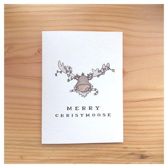 CHRISTMOOSE // Christmas card, funny christmas car