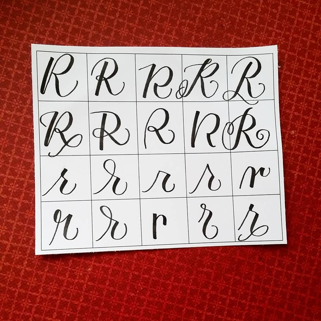 Ways To Write The Letter R By Letteritwrite  See Also The