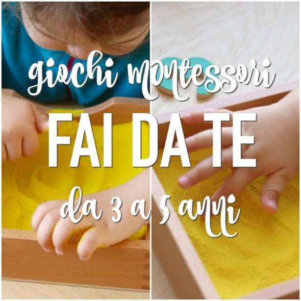 Giochi Montessori fai da te per bambini da 3 a 5 anni. Idee ...
