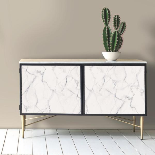 Roommates Carrara Marble Peel And Stick Wallpaper Covers 28 18 Sq Ft Rmk10839wp The Home Depot In 2021 Peel And Stick Wallpaper Decor Decorating Solutions