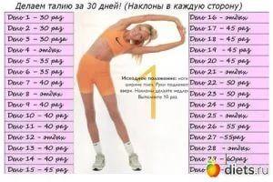 Скакалка 30 дней таблица