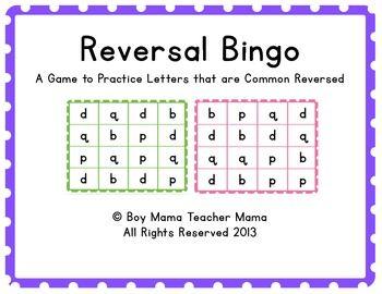 letter reversal bingo fine and visual motor skills bingo bingo games writing practice. Black Bedroom Furniture Sets. Home Design Ideas