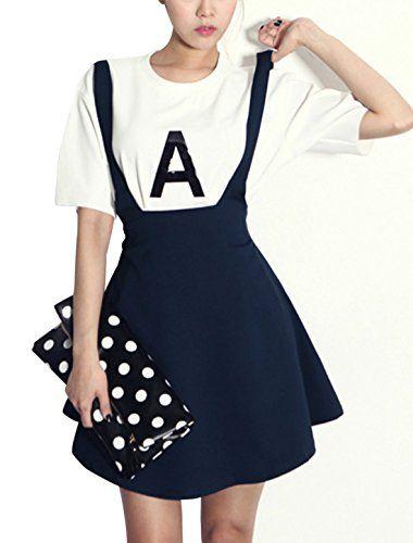 Women Letters Printed Top w Elastic Waist Suspender Skirt uxcell http://www.amazon.com/dp/B00L3A67H6/ref=cm_sw_r_pi_dp_4iFmub1HH78EA