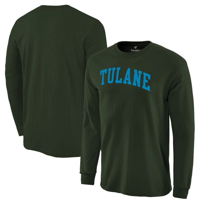 brand new 0b764 2b1cd Tulane Green Wave Fanatics Branded Basic Arch Long Sleeve Expansion T-Shirt  - Green
