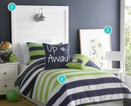 boys room lime green sheets blue stripe navy and green 1 navy blue white and