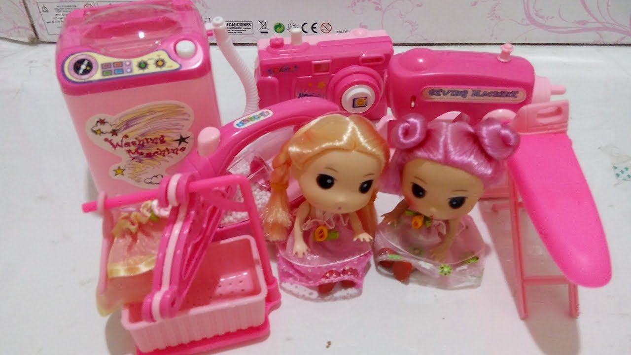 لعبة الأجهزة المنزلية الغسالة و المكواة و ماكينة الخياطة العاب بنات Popcorn Maker Kitchen Appliances Appliances