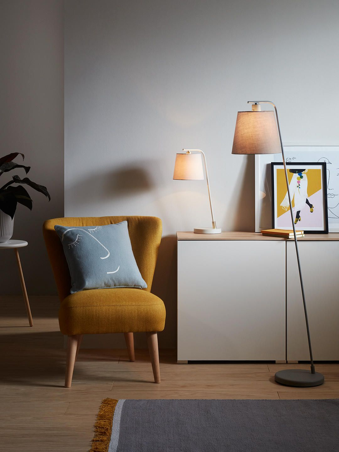 House by John Lewis Harry Floor Lamp, Grey  House by john lewis