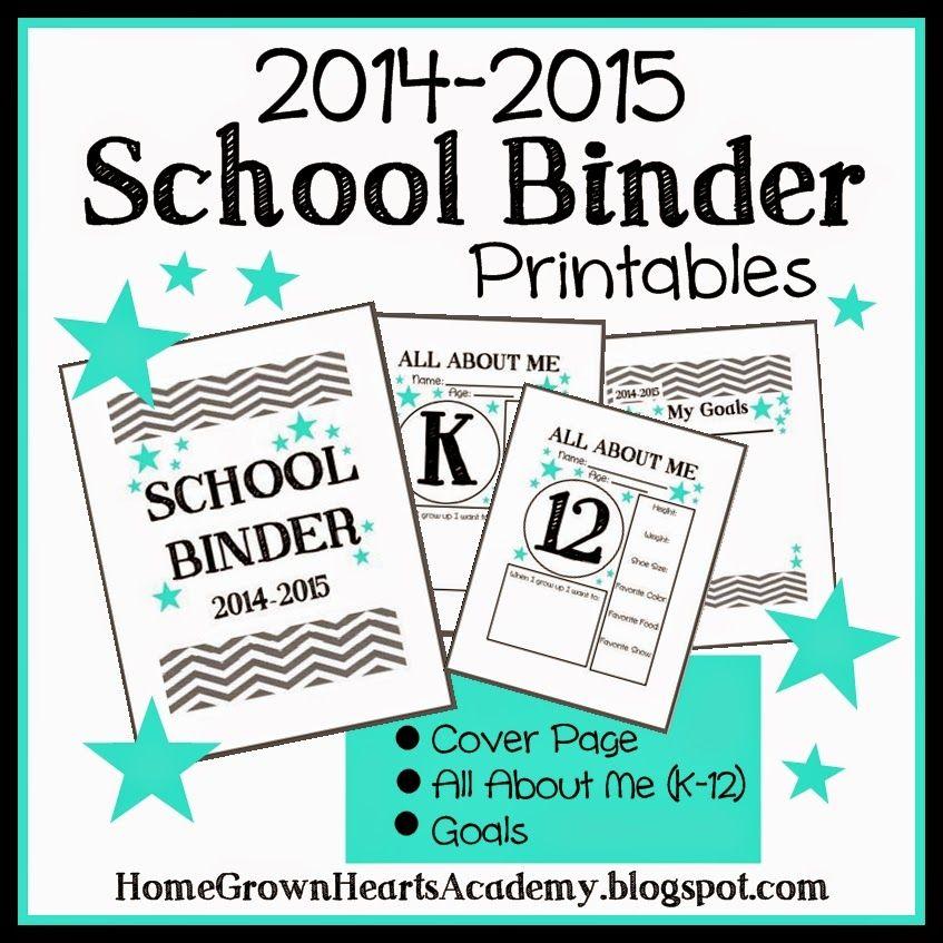 FREE - School Binder Printables