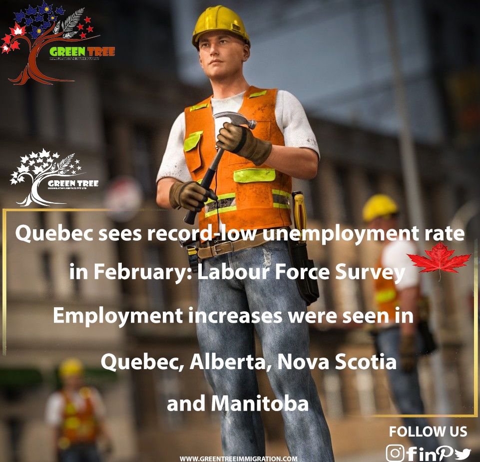 Quebec sees recordlow unemployment rate in February