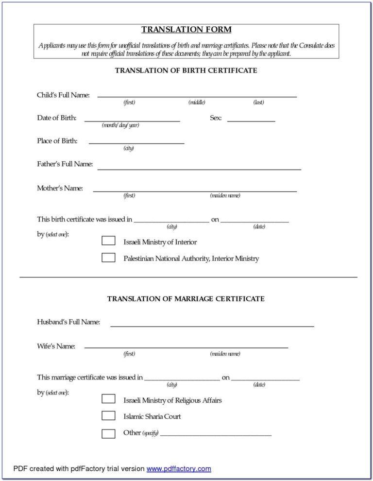 Birth Certificate Translation Form Sri Lanka Form Resume In